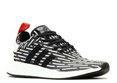 68a402b58 Image Unavailable. Image not available for. Color  adidas Original NMD R2  Primeknit PK Core Black White Zebra Men ...