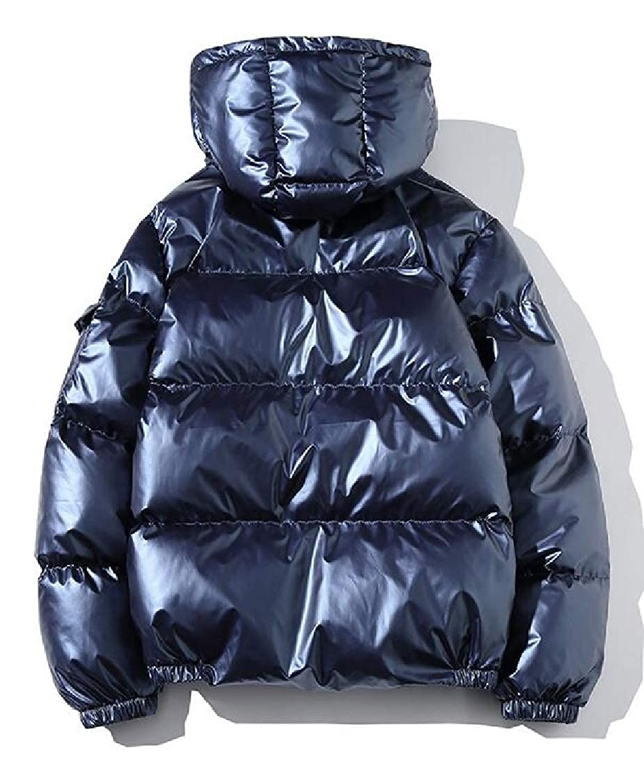 1fe8db4e8 chenshijiu Mens Thicken Winter Metallic Warm Coat Padded Quilted ...