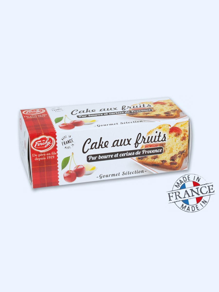 Forchy – Fruit cake – Pure butter and cherries from Provence 300 g (Pack of 2)