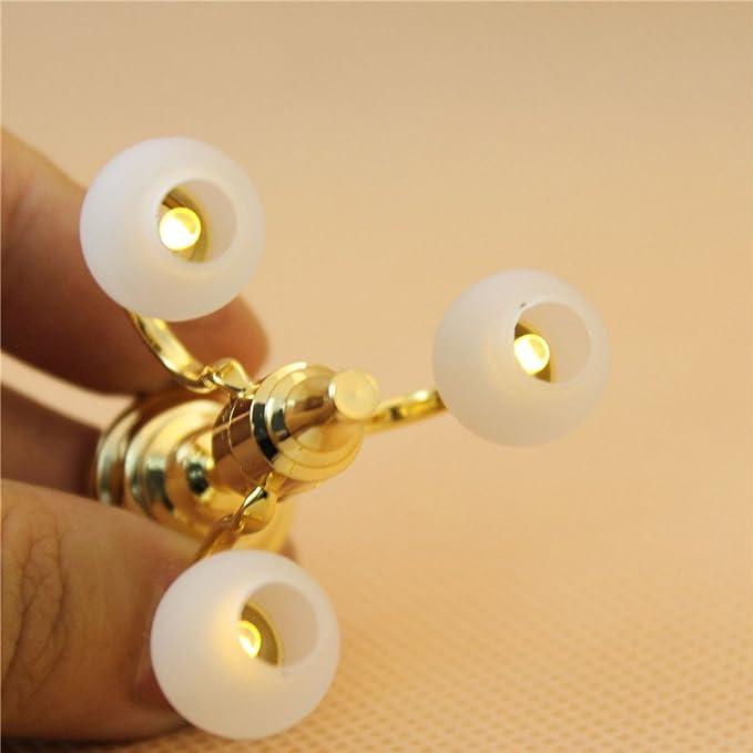 Amazon.com: 1: 12 Dollhouse Lámpara de araña de 3 brazos ...