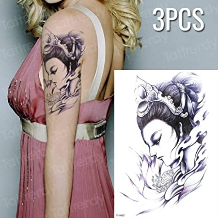 tzxdbh Diseño de Tatuaje de 3 Piezas Tatuaje Cruz Transferencia de ...