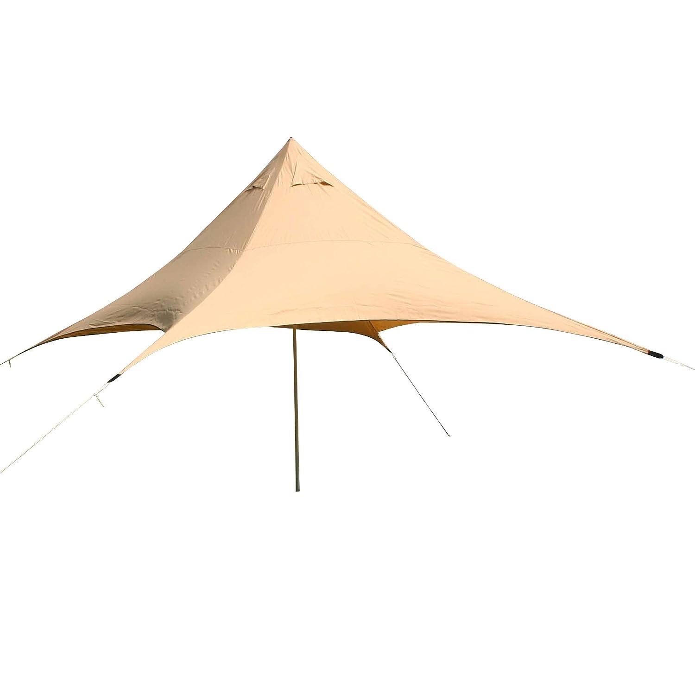 10T Captiva 4 - Schirm-Sonnendach 500x500cm Pyramidenform mit Aufstellstange wasserabweisend 90% UV-Schutz