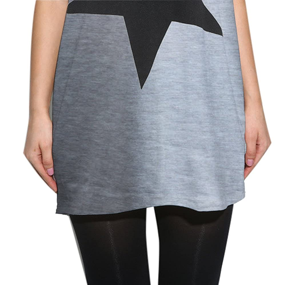 LATH.PIN Maglietta Maniche Corte Donna Camicie e Bluse Estive Batwing Dolman T-Shirt Casual Top Grigio