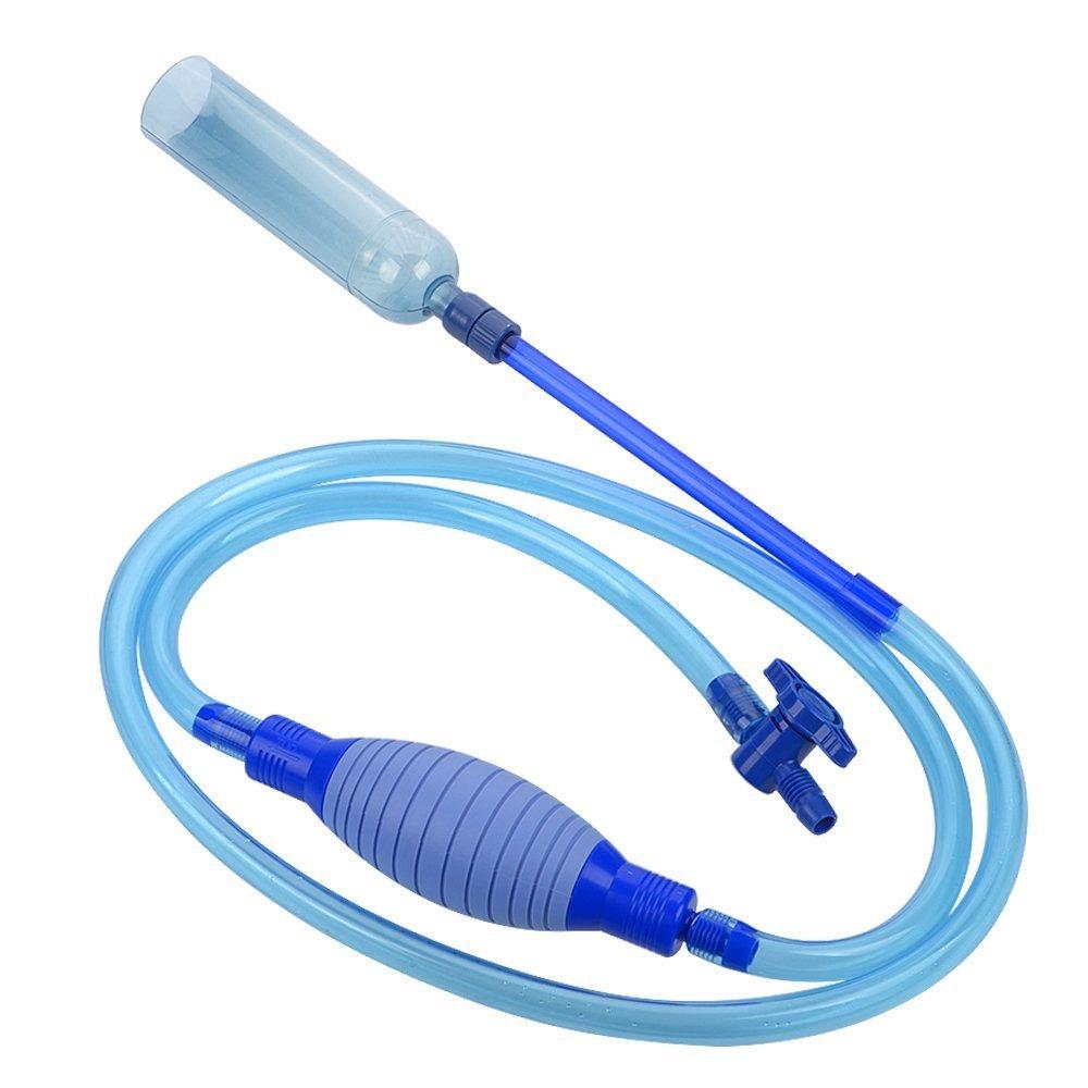 Langediao Sifón para Acuario Limpiador de Grava de Pecera Cambiador de Agua Absorción Automática con Bomba y Grifo de Control de Flujo