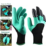 Garden Genie Gloves Waterproof Garden Gloves With Claws for Digging & Planting,Gardening,Cleaning,Restoration Work, Easy to Dig & Plan,Right Hand Claws,Unisex,1 Pair-As seen on TV