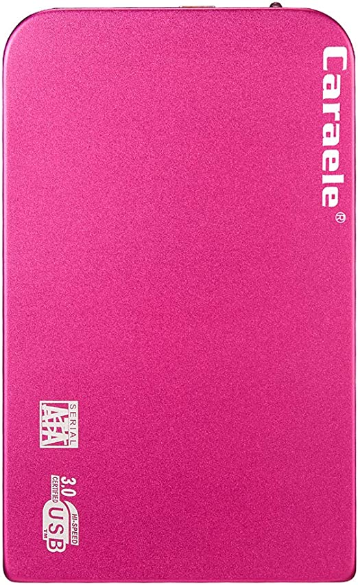 B Baosity 1T / 2T外付けバックアップハードドライブケース USB 3.0エンクロージャポータブル HDD Sata - 2T