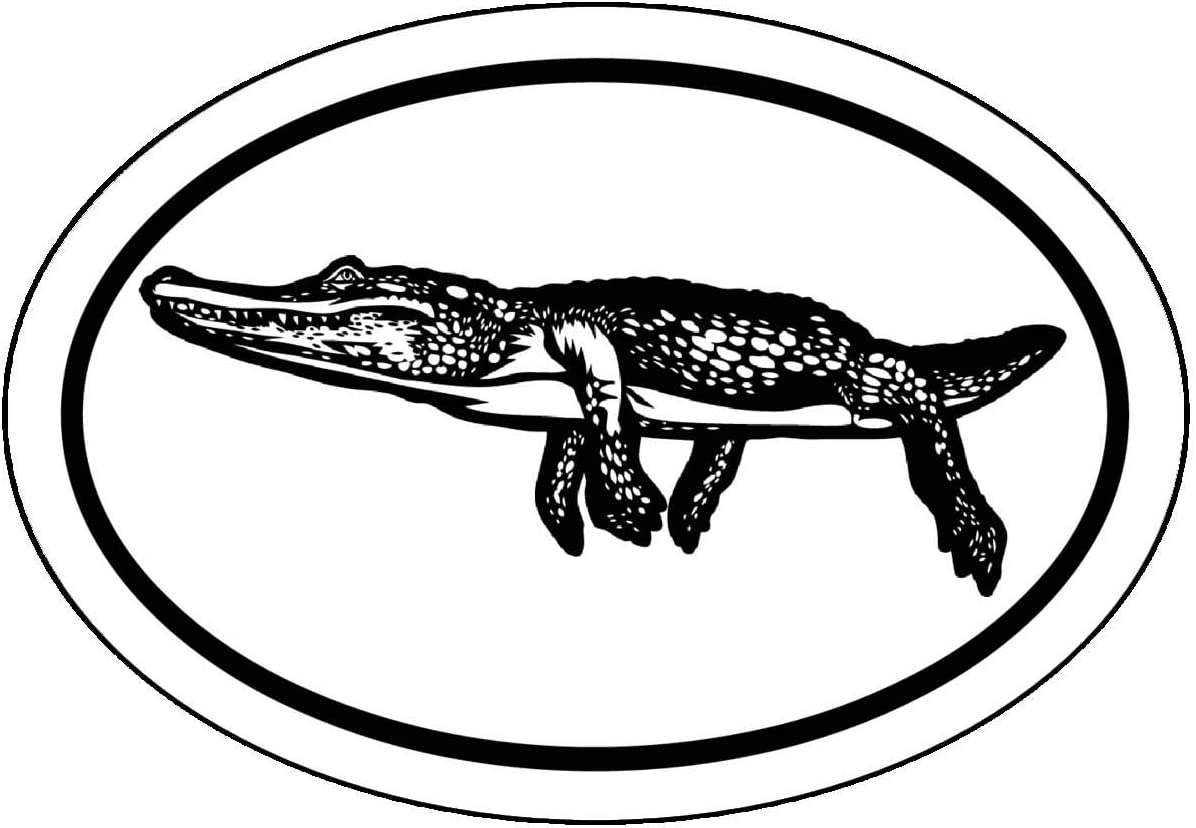 Perfect Southern Gift WickedGoodz Oval Alligator Decal Bayou Bumper Sticker