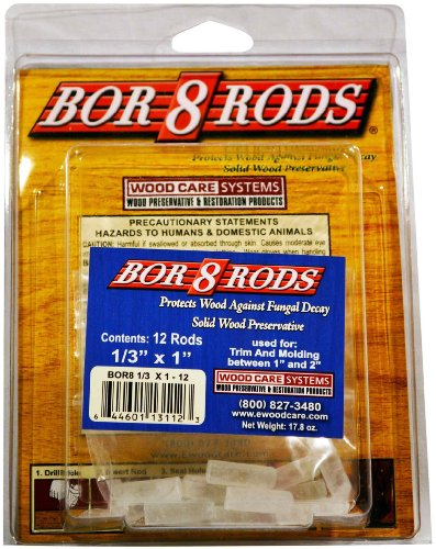 System Three Resins 644601131123 1/3-Inch by 1-Inch Wood Care Borate Rods, 12-Pack
