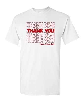 5803336f Thank You Bag Sack Grocery Novelty Funny Halloween Costume Humor Men's T- Shirt