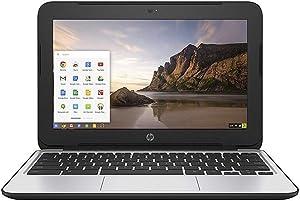 HP Chromebook 11 G3 11.6-inch Intel Celeron N2840 Google Chrome OS Notebook Laptop (Renewed) (4GB Ram | 16GB SSD)
