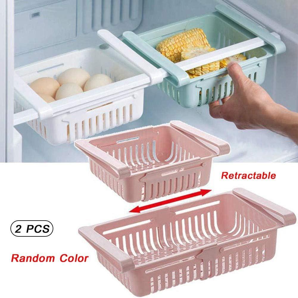 Demarkt K/ühlschrank Aufbewahrung K/ühlschrank Organizer K/üche Aufbewahrung Organizer Box Korb zuf/ällige Farbe