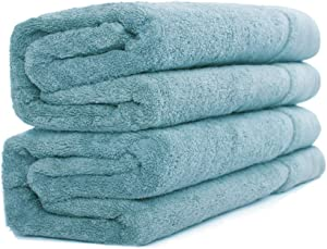 Sense Gnosis Bath Towels Set of 2 Ultra Absorbent Quick Dry 100 Percent Terry Cotton Towels Luxury Super Soft Towel for Everyday Use, Home, Gym, Pool ( Turquoise, 27.5