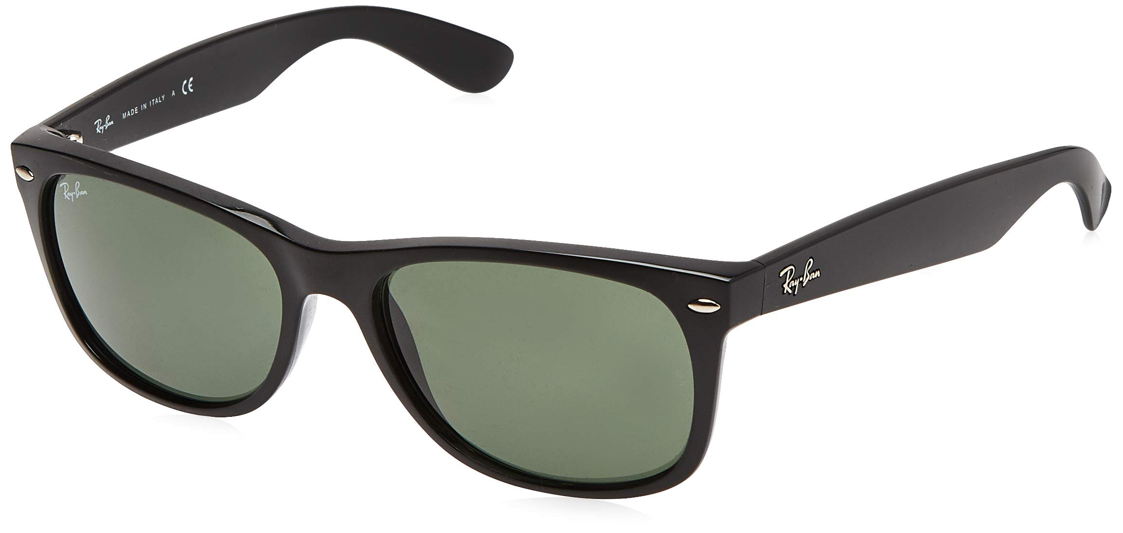 RAY-BAN RB2132 New Wayfarer Sunglasses, Black/Green, 52 mm by RAY-BAN