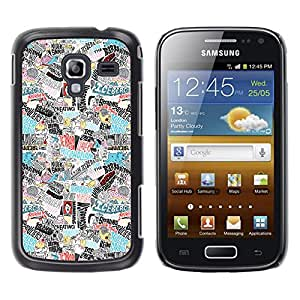 KOKO CASE / Samsung Galaxy Ace 2 I8160 Ace II X S7560M / Cartel del arte del mundo de terror adicción hitler / Delgado Negro Plástico caso cubierta Shell Armor Funda Case Cover