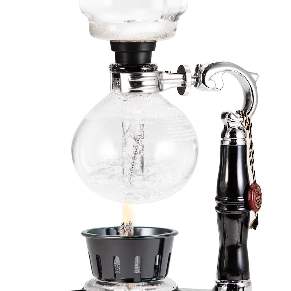 YAMA Glass 5 Cup Tabletop Siphon Gravity Coffee Maker with Alcohol Burner by Yama Glass (Image #9)