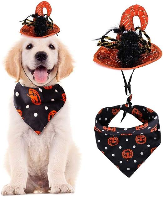 Pañuelos para Perros de Halloween, Baberos Triangulares Accesorios ...