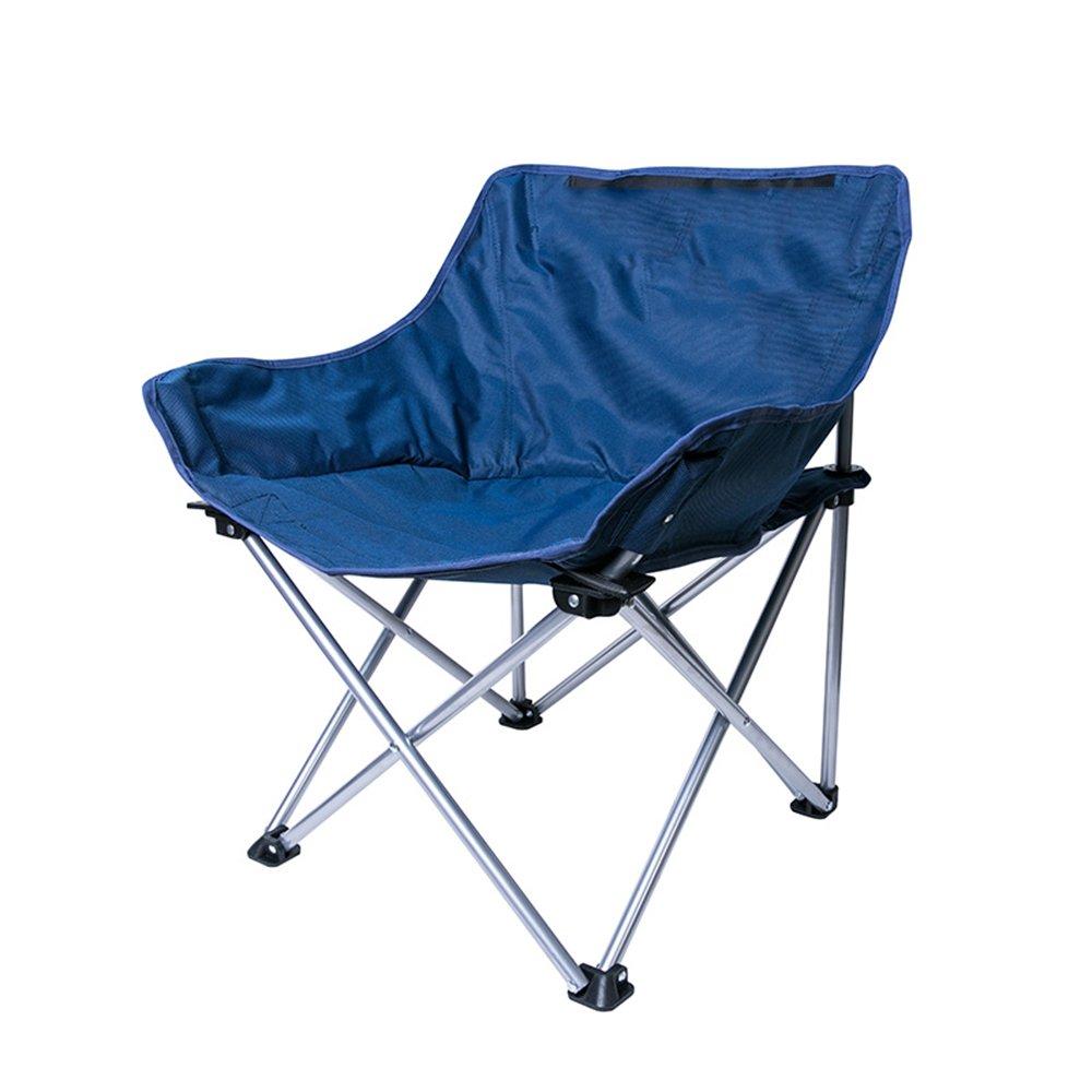 QFFL 折り畳み椅子カジュアルポータブル椅子屋外キャンプシングルチェア軽量簡単釣りチェア2色オプション アウトドアスツール (色 : 青) B07F1DGTLL  青