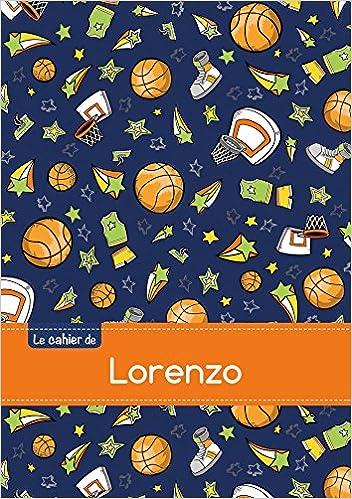 Télécharger en ligne Le cahier de Lorenzo - Blanc, 96p, A5 - Basketball pdf epub