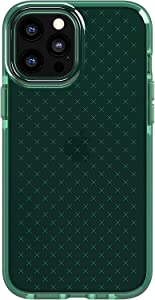 tech21 Evo Check Phone Case for Apple iPhone 12 Pro Max 5G with 12 ft Drop Protection, Midnight Green