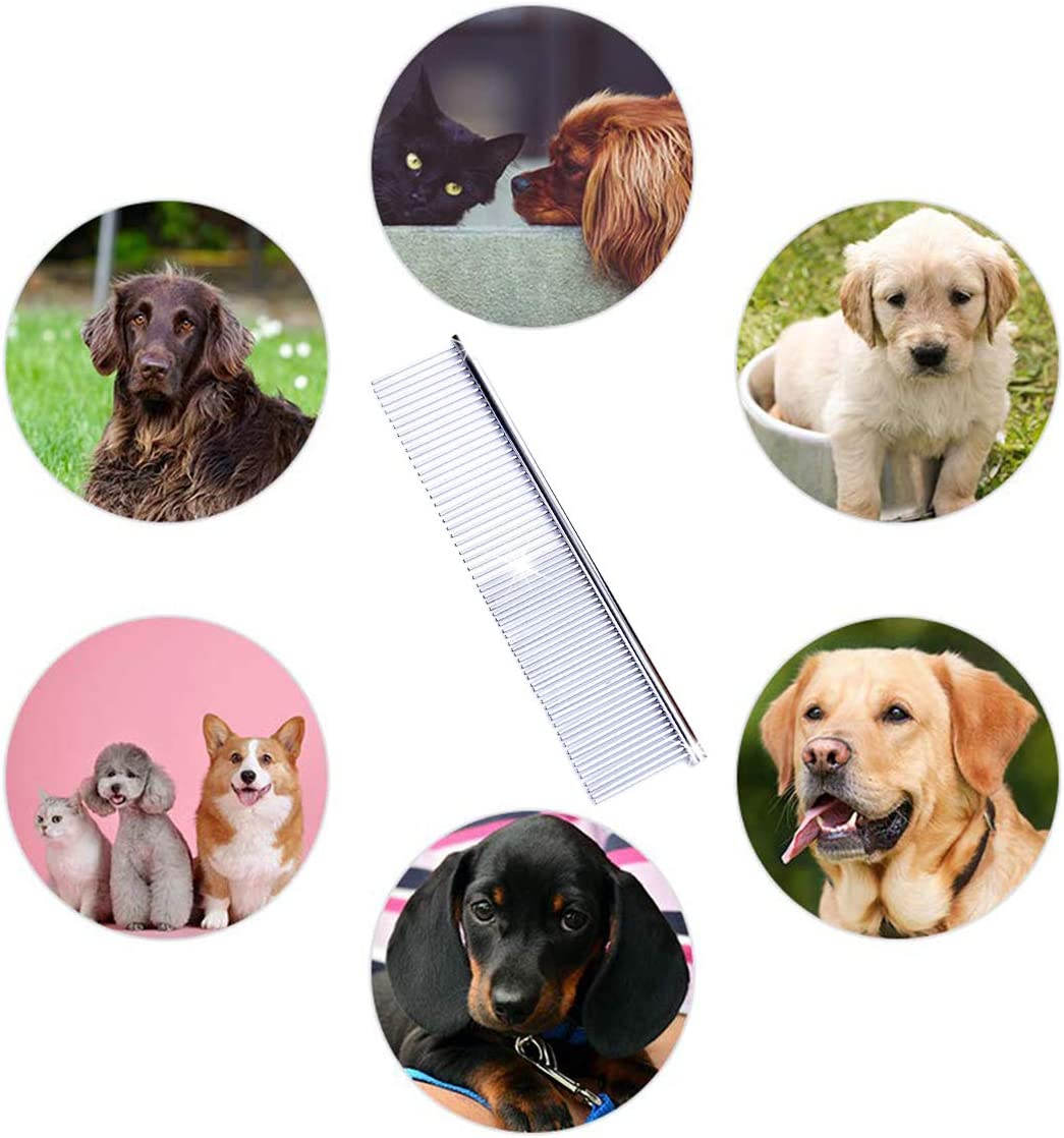 BSTHP Pet Comb Stainless Steel Combing Tool Long Hair Comb for Dog and Cat