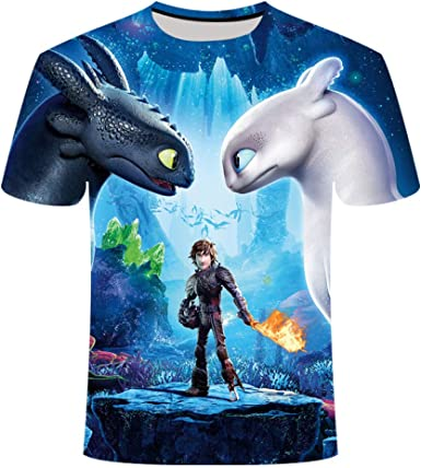 Camiseta Linda Top cómo Entrenar a tu dragón Camiseta 3D de Dibujos Animados Ropa de Verano Camiseta de Hombre de Dibujos Animados: Amazon.es: Ropa y accesorios