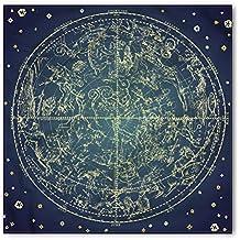 Lunarable Space Bandana, Northern Stars Constellation, Unisex Head and Neck Tie