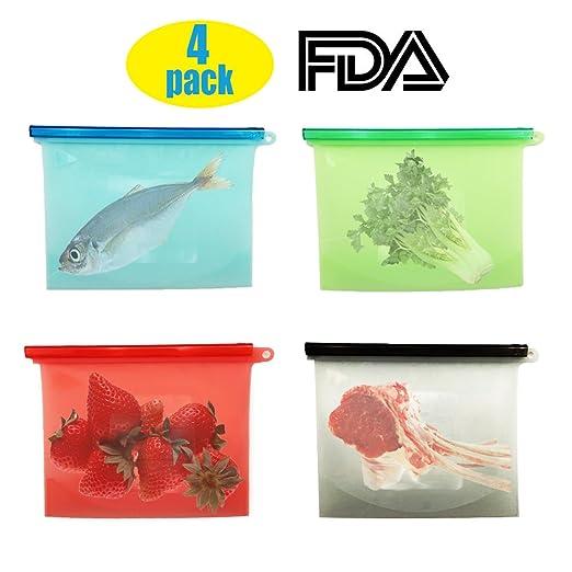 Alimentos de silicona reutilizables bolsas - silicona ...