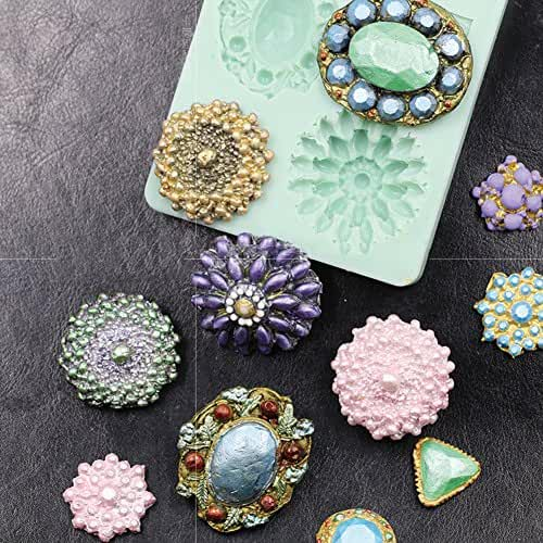 3D Brooch Cake Jewelry Gemstone Cupcake Decorating Mold Chocolate Mould