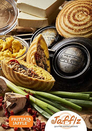 Jafflz Vegan Gluten-Free Ready-to-Eat Pre-Made Sandwiches Healthy Breakfast Sandwiches Frozen Gourmet Frozen Appetizers Toasted Pocket Sandwiches – 12 Count