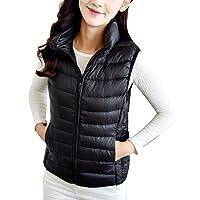 f637f1f7688 ZhuiKun Women's Down Gilet Coat Vest Ultra Light Weight Packable Puffer  Jacket