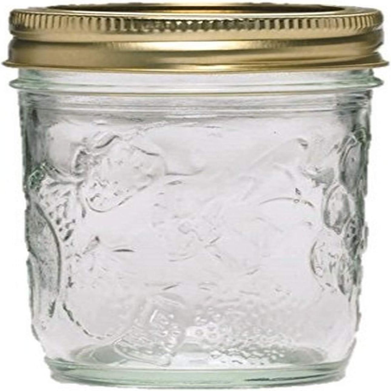 Ball Golden Harvest Mason Regular Mouth 8oz Jelly Jar 12PK