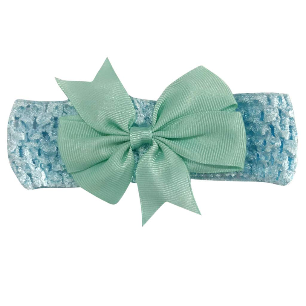 ❤️ Mealeaf ❤️ Girls Wave Headbands Bowknot Hair Accessories for Girls Infant Hair Band( Sky Blue,)