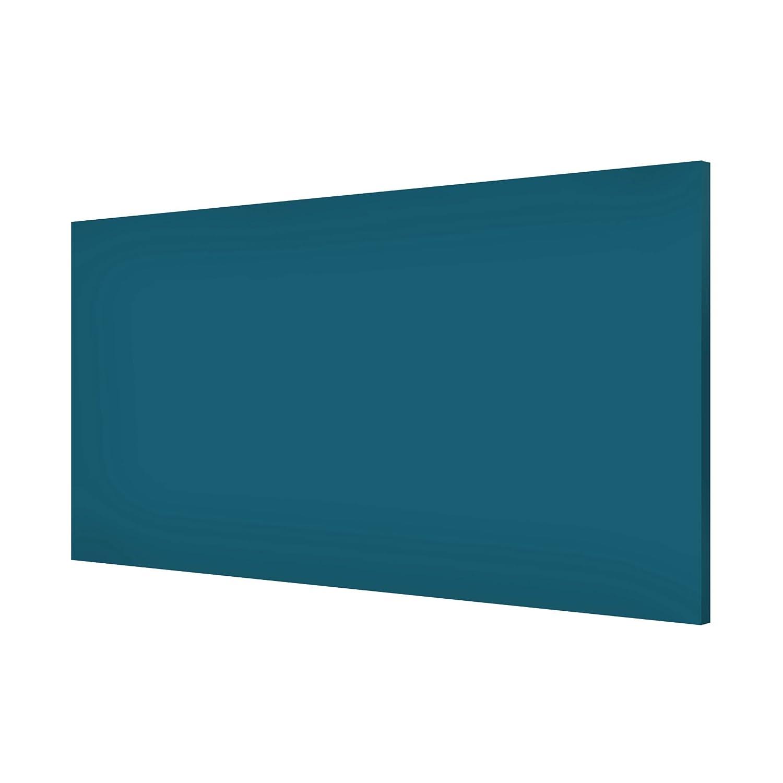 Apalis Magnettafel Colour Petrol Memoboard Design Quer Metall Magnet Pinnwand Motiv Wand Stahl Küche Büro, Größe HxB: 37cm x 78cm