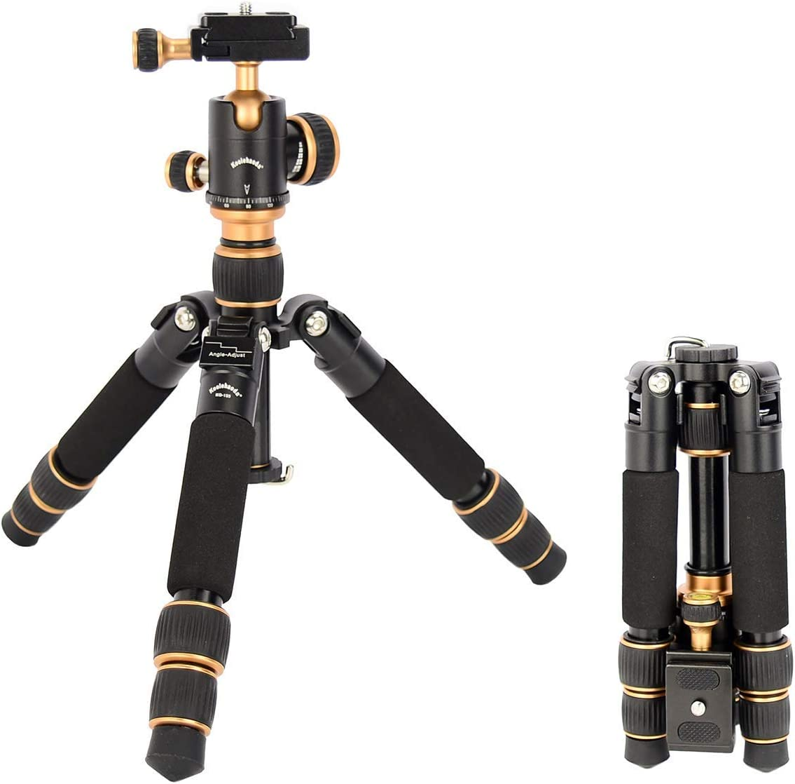 Koolehaoda KQ-155 Travel Portable Mini Tripod Compact Desktop Macro Mini Tripod with Ball Head (KQ-155 Mini Tripod)