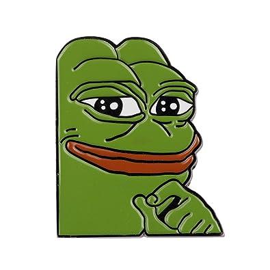 Amazoncom Gudeke Smug Frog Pepe Lapel Pin Jewelry