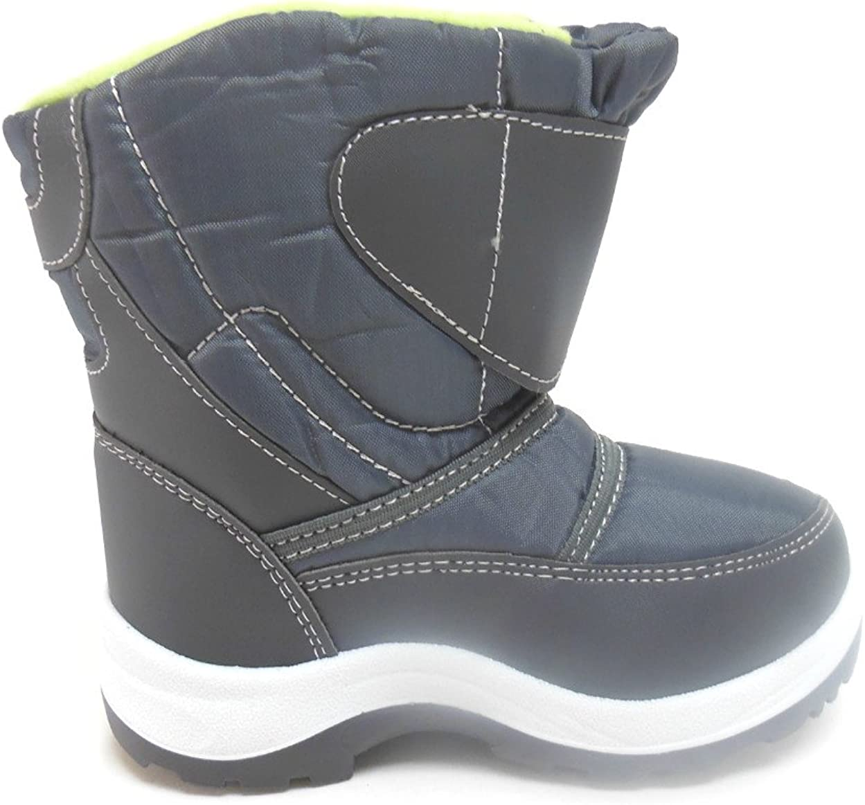 ADORABABY Toddler Boys Faux Fur Lined Winter Snow Boots