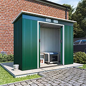BillyOh 4x8 Partner Eco Metal Shed Heavy-Duty Galvanised