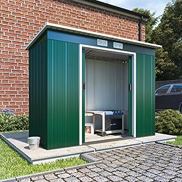 BillyOh socio Eco Metal cobertizo Pent de acero resistente, galvanizado unidad de almacenamiento: Amazon.es: Jardín