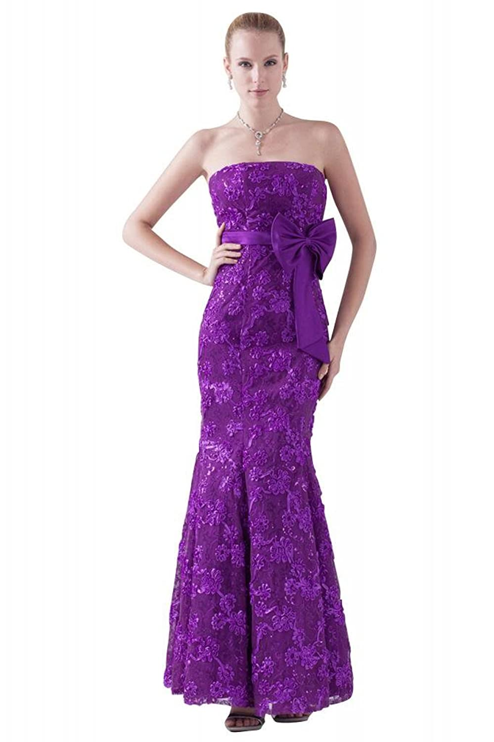 GEORGE BRIDE New Arrivals Strapless Beaded Mermaid with Bow Sash Dress