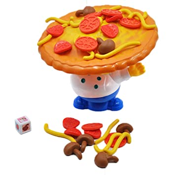 Alonea Toys Stacking Balancing Toys, Alonea Stacking Balancing Games Desktop Incline Pizza Balancing Pile Up Game Educational Toy for Kids (Multicolor)