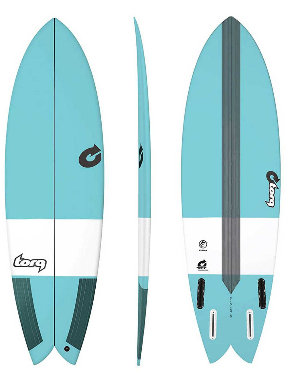 Tabla de Surf Torq epoxy Tec Fish 5.8 Blue: Amazon.es: Deportes y aire libre