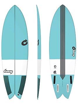 Tabla de Surf Torq epoxy Tec Fish 5.8 Blue