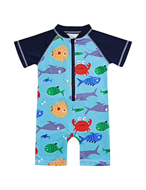 8fc7bf3c90 Toddler Kids Baby Boy 6 12 18 24 Months Swimsuit Short Sleeve Bathing Suit  Shark Pattern