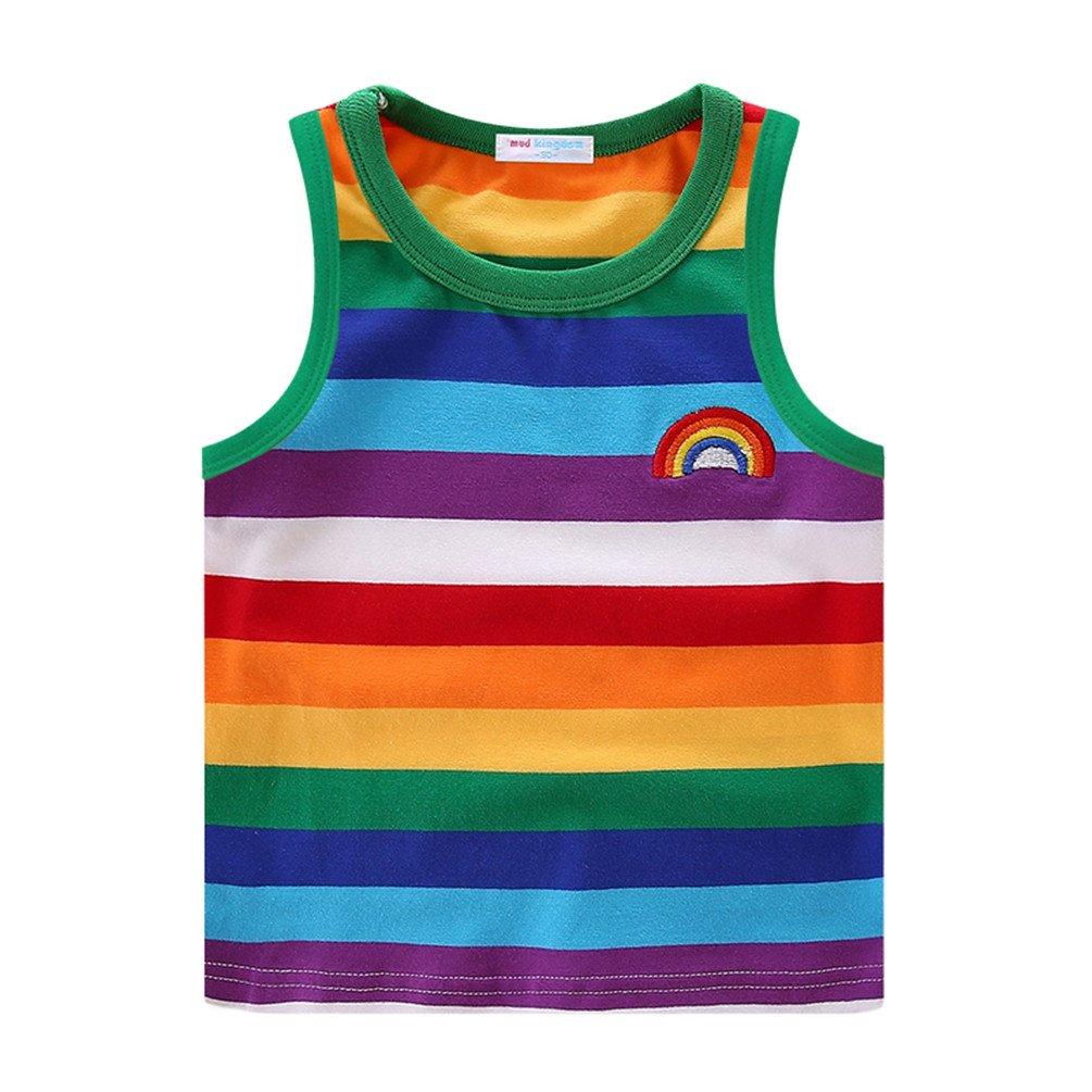 Mud Kingdom Boys T-Shirts Rainbow Stripe SS0382
