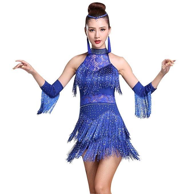 GOWE Ropa de Baile para Mujer - Vestido de Baile Latino Sin ...