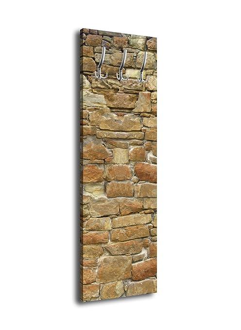 wandmotiv24 Perchero con diseño Piedra Natural Muro G031 40 ...