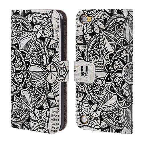 Head Case Designs Carta Mandala Doodles Cover a portafoglio in pelle per iPod Touch 5th Gen / 6th Gen