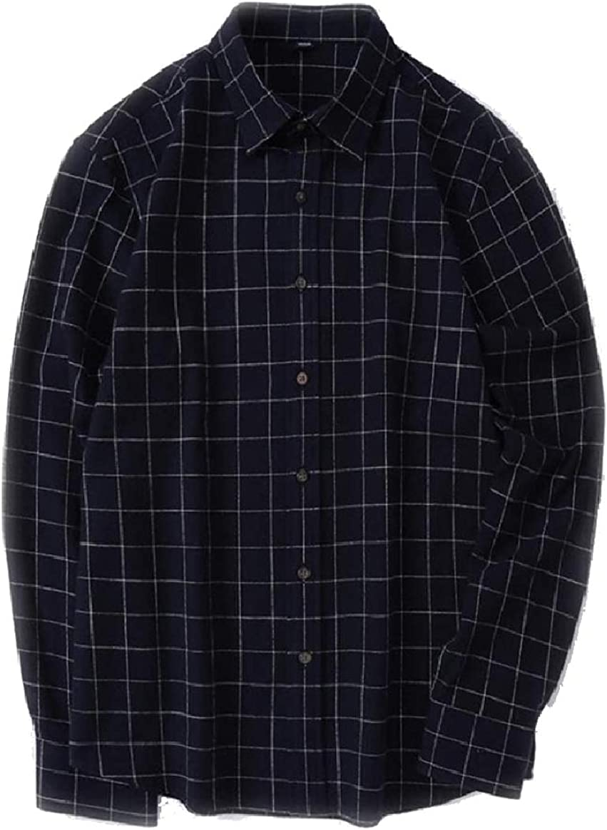 Tootless-Men Thin Brushed Classic Plaid Retrol Fashion T-Shirts