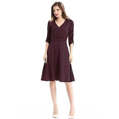 e4301a730 Vestido casual por debajo de la rodilla OU GRID para mujer