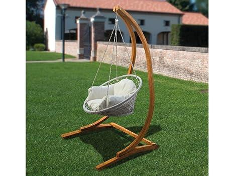 Dondolo Da Giardino In Legno : Sedia a dondolo singola con supporto il legno papillon 215h cm